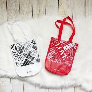Lululemon two reusable tote bags